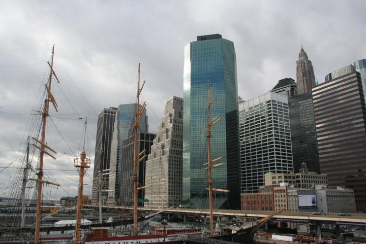 south street seaport- new york city- photography- cloudy day- urban photography