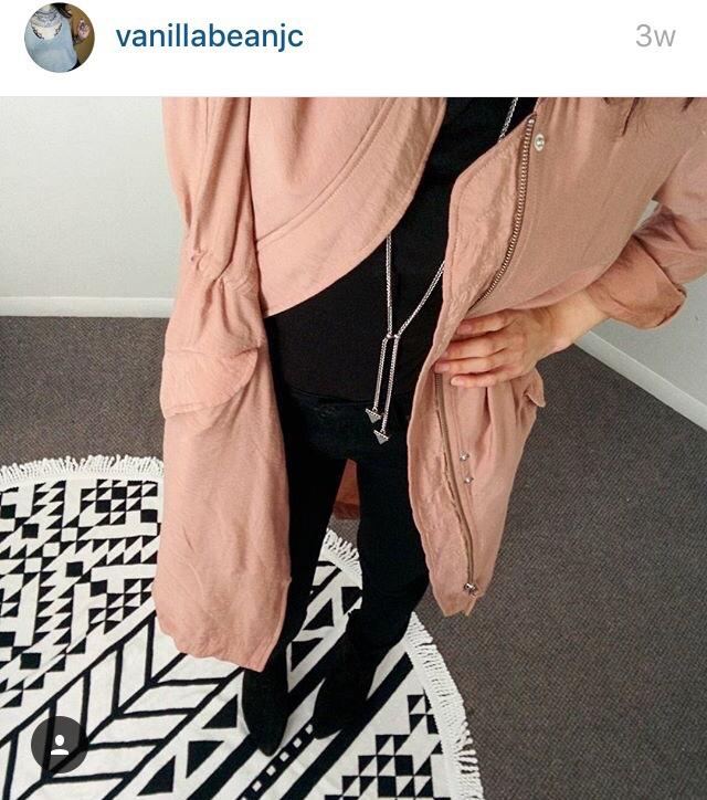 fashion blogger pink jacket