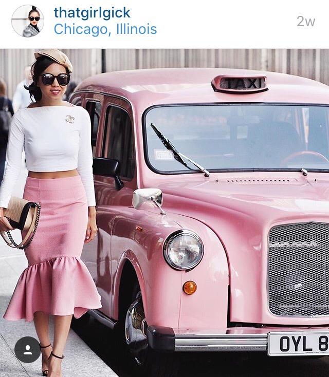 pink skirt pink car