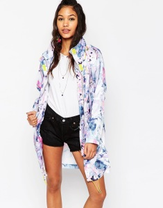 ASOS stylish colorful raincoat