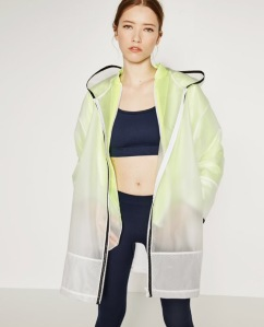 Zara frosted transparent stylish raincoat
