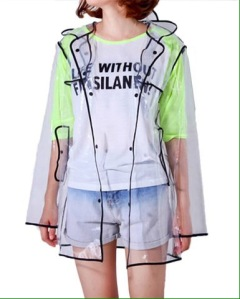 transparent raincoat stylish