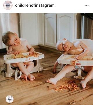 children of instagram- fashion blogger- kids sleeping
