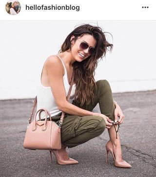hello fashion blog- cargo skinnies- pink shoes- fashion blogger