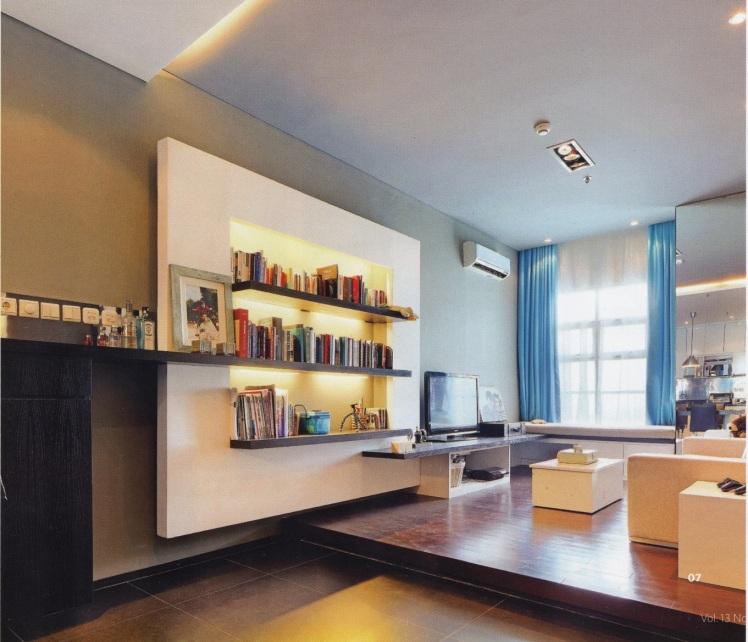 bookshelf-living room inspiration-backlight