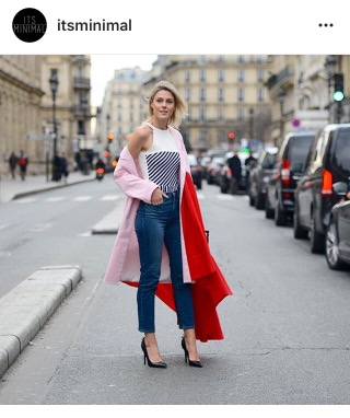 red coat- instagram- fashion blogger-