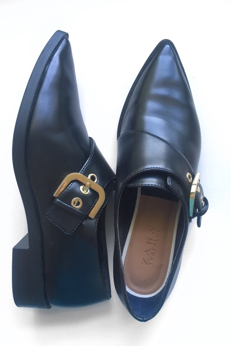 zara flats- pointed women's flats- women's shoes- black shoes- fashion blog