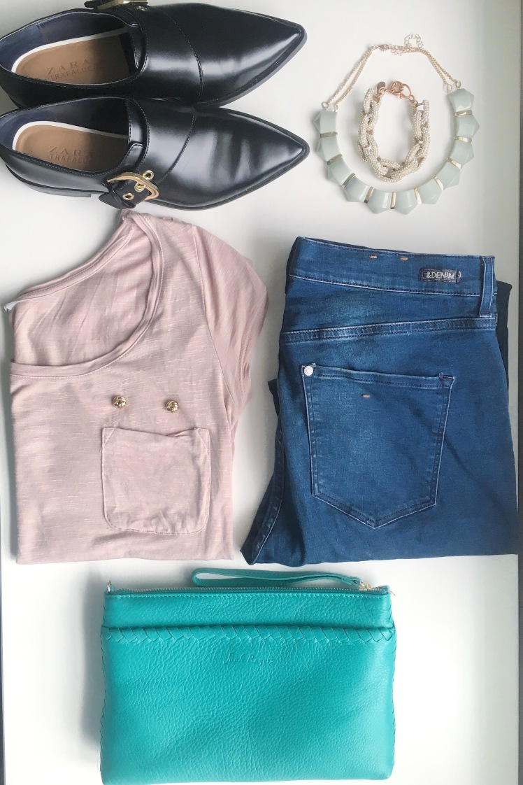 personal style- high waisted jeans- H&M- zara- jack rogers
