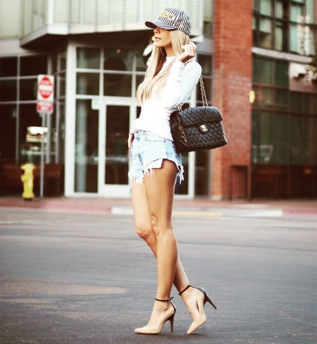 baseball cap fashion - women's fashion -  Baseball cap street style
