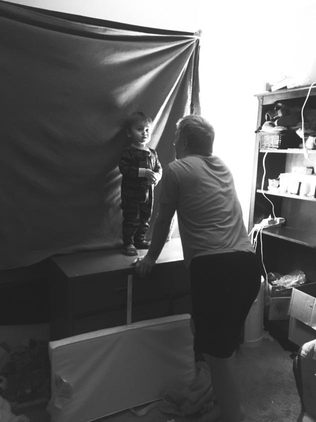 Son climbs on dresser